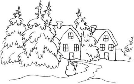 Ausmalbilder Zum Drucken Malvorlage Winter Kostenlos 1